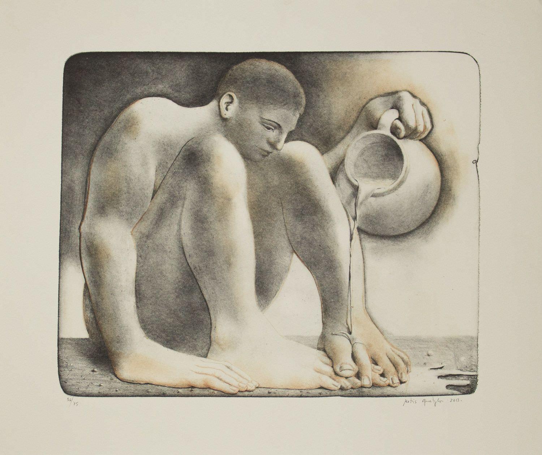 Litografía de Matias Quetglas arte de menorca