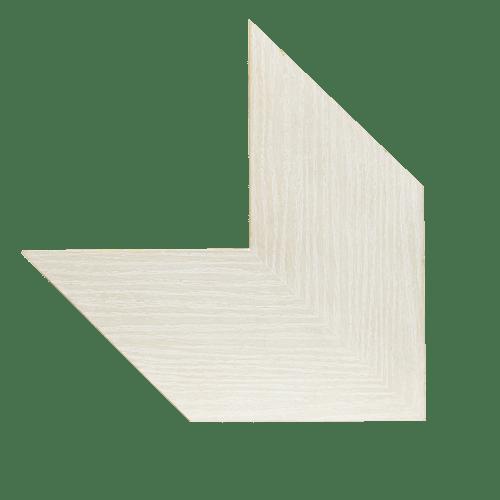 Marco artesano de madera color blanco roto galeria de arte - Color blanco roto ...