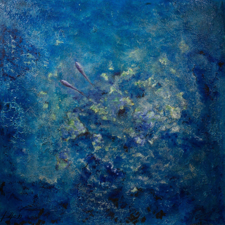 Pintura de Delfin arte de menorca