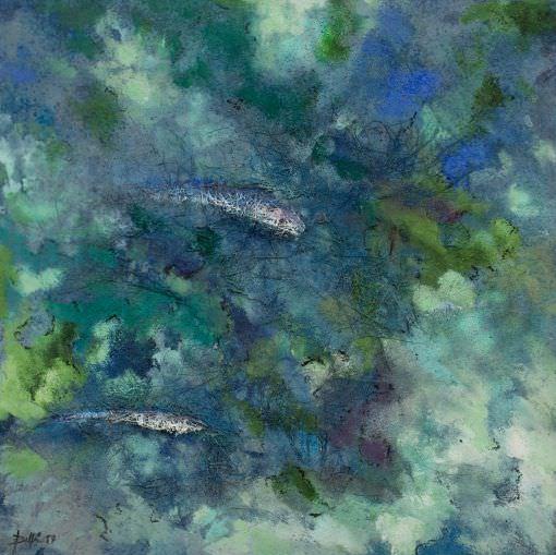 Pintura de Delfin arte en menorca