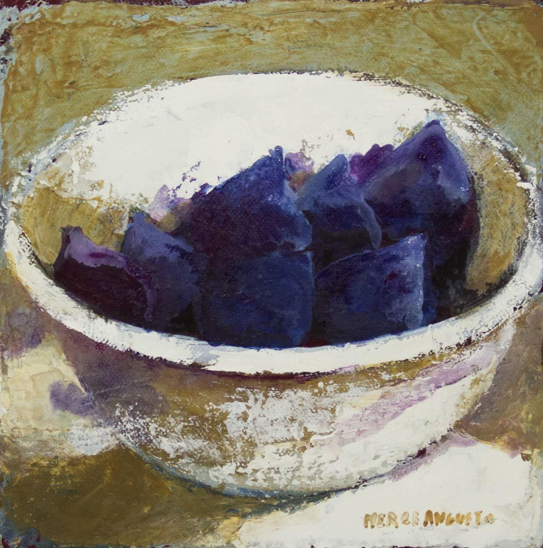 Pintura de Mercedes Angusto galeria en menorca